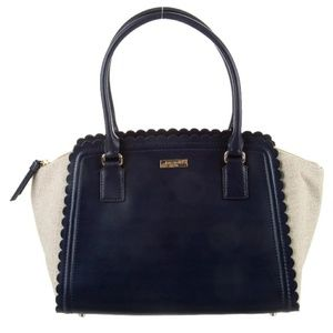 Kate Spade ♠Marguerite Navy & Tan Leather Canvas